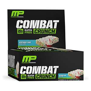 MusclePharm Combat Crunch Bars - 12 x 63g (756 g) Birthday Cake
