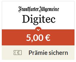 5€ Amazon Gutschein für 30 Tage kostenloses F.A.Z. Digitec Abo @ Spartanien (KÜ notwendig)