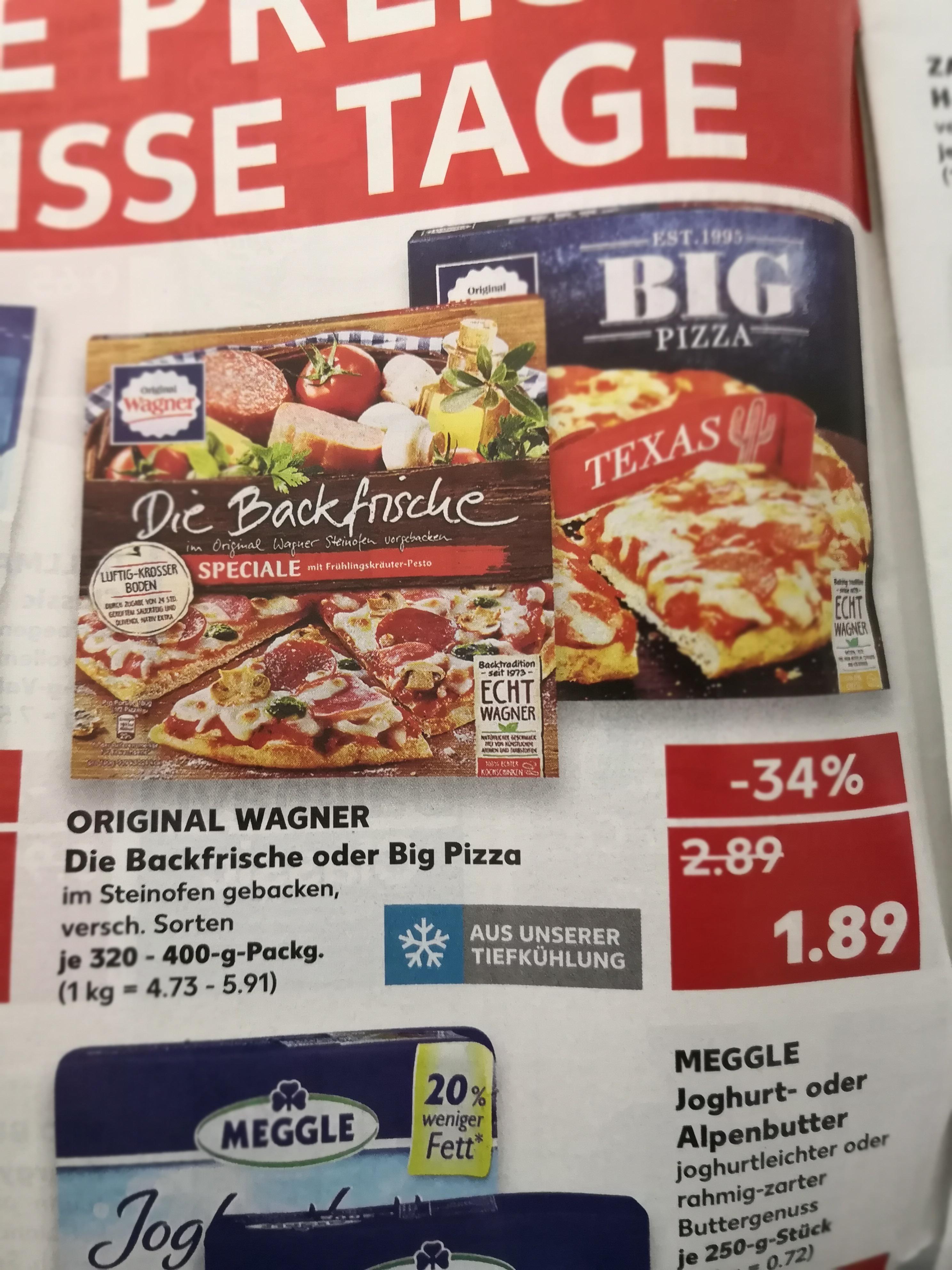 Kaufland: Wieder Big Pizza und Die Backfrische im Angebot