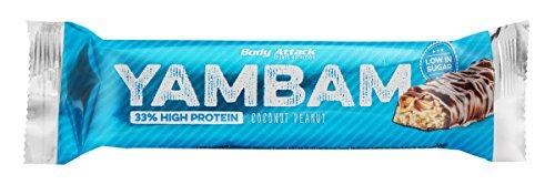 Body Attack YAMBAM Protein Bar - 15 x 80 g (1200 g) Cocos-Peanut