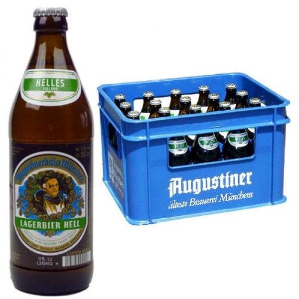 Augustiner Lagerbier hell | 20x0,5 L | 5.2% Vol. | INKLUSIVE PFAND (3,10€) und VERSAND oder 13,99€ @ Rakuten für Club Mitglieder