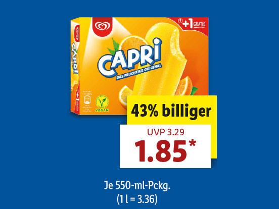 Lidl Capri Eis 10er Pack & Flutsch-Meister 9er Pack für nur 1,85€ ab 19.07 Donnerstag