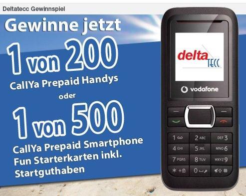 [Deltatecc] 1 von 200 Vodafone CallYa Prepaid Handys oder 1 von 500 Vodafone CallYa Smartphone Fun Prepaid Starterkarten kostenlos!