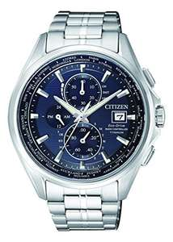 Citizen Herren-Armbanduhr AT8130-56L, Eco-Drive Titanium Funk-Chronograph