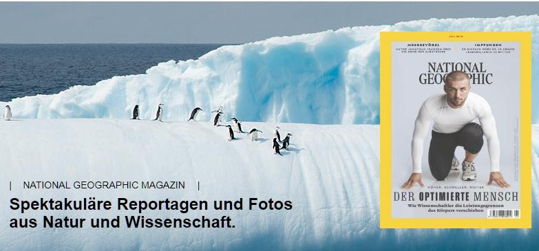 2 Ausgaben National Geographic (digital) kostenlos - kein Abo - keine Kündigung notwendig !