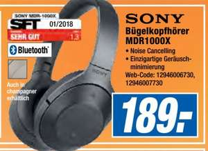 [Regional Expert Groeblinghoff-Alle 7 Filialen] SONY MDR-1000X, Over-ear Kopfhörer, Near Field Communication, Headsetfunktion, Bluetooth, Champagner oder Schwarz für je 189,-€