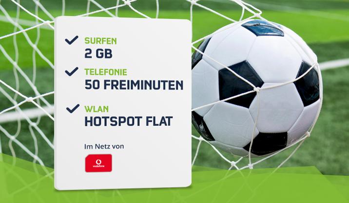 Vodafone Smart Surf (MD) für 4,99€ / mtl. mit 50 Minuten, 50 SMS und 2GB UMTS Datenvolumen