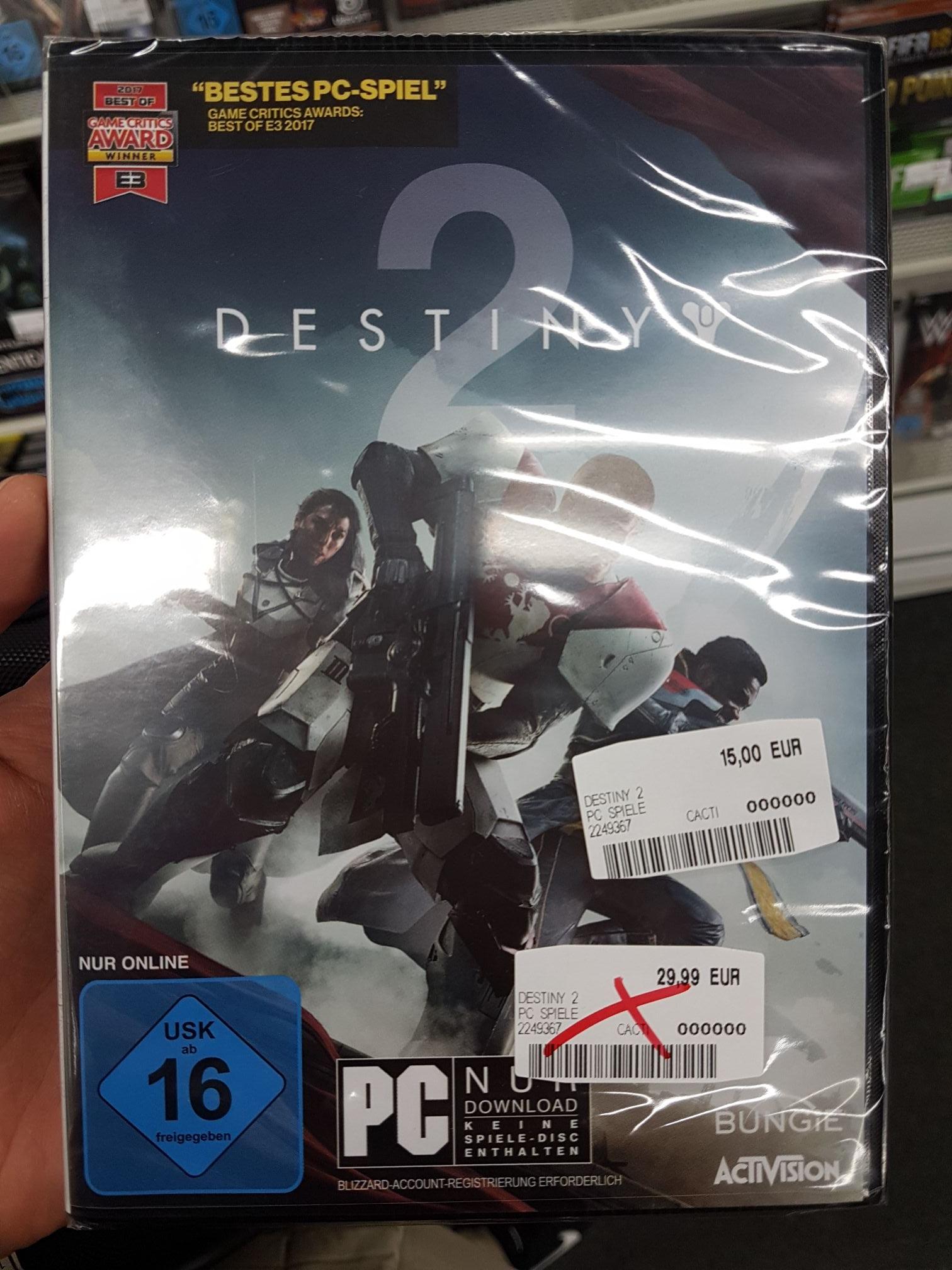 Destiny 2 für PC MM [evtl lokal Erlangen]