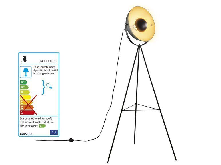 LIVARNO LUX LED Retro Stehleuchte, Stehlampe + LED Leuchtmittel
