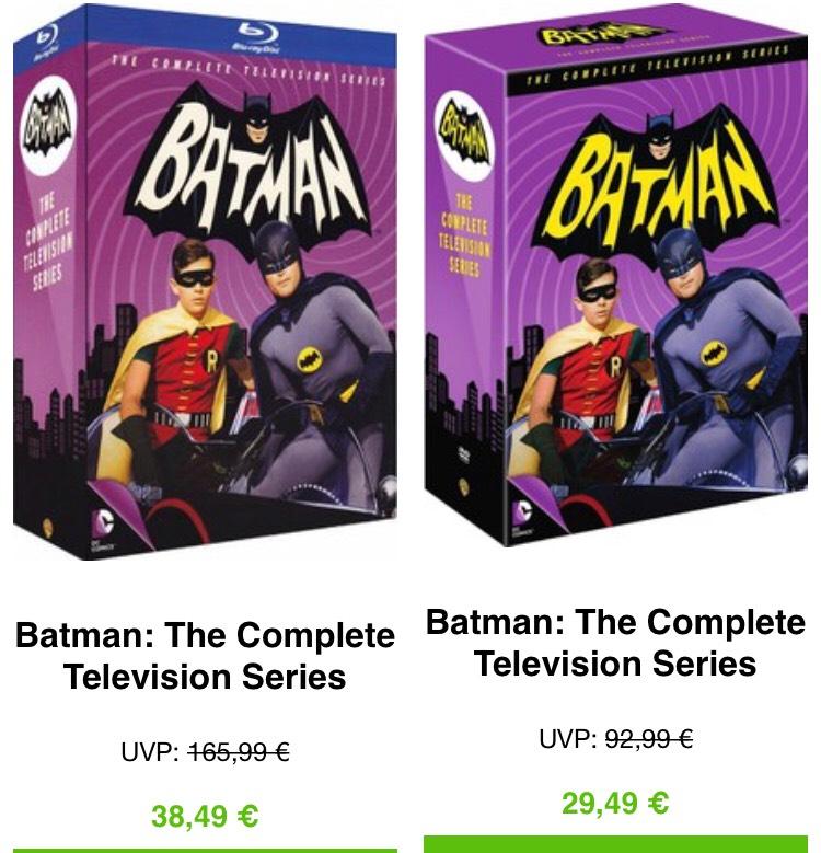 Batman - The complete television series Blu-Ray für 39,98€ (DVD für 30,98€)