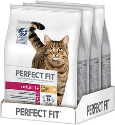 Perfect Fit Katzen-Trockenfutter Huhn 3 Beutel a 2.8kg für 13,20€ / 12.54€ (Sparabo) @Amazon