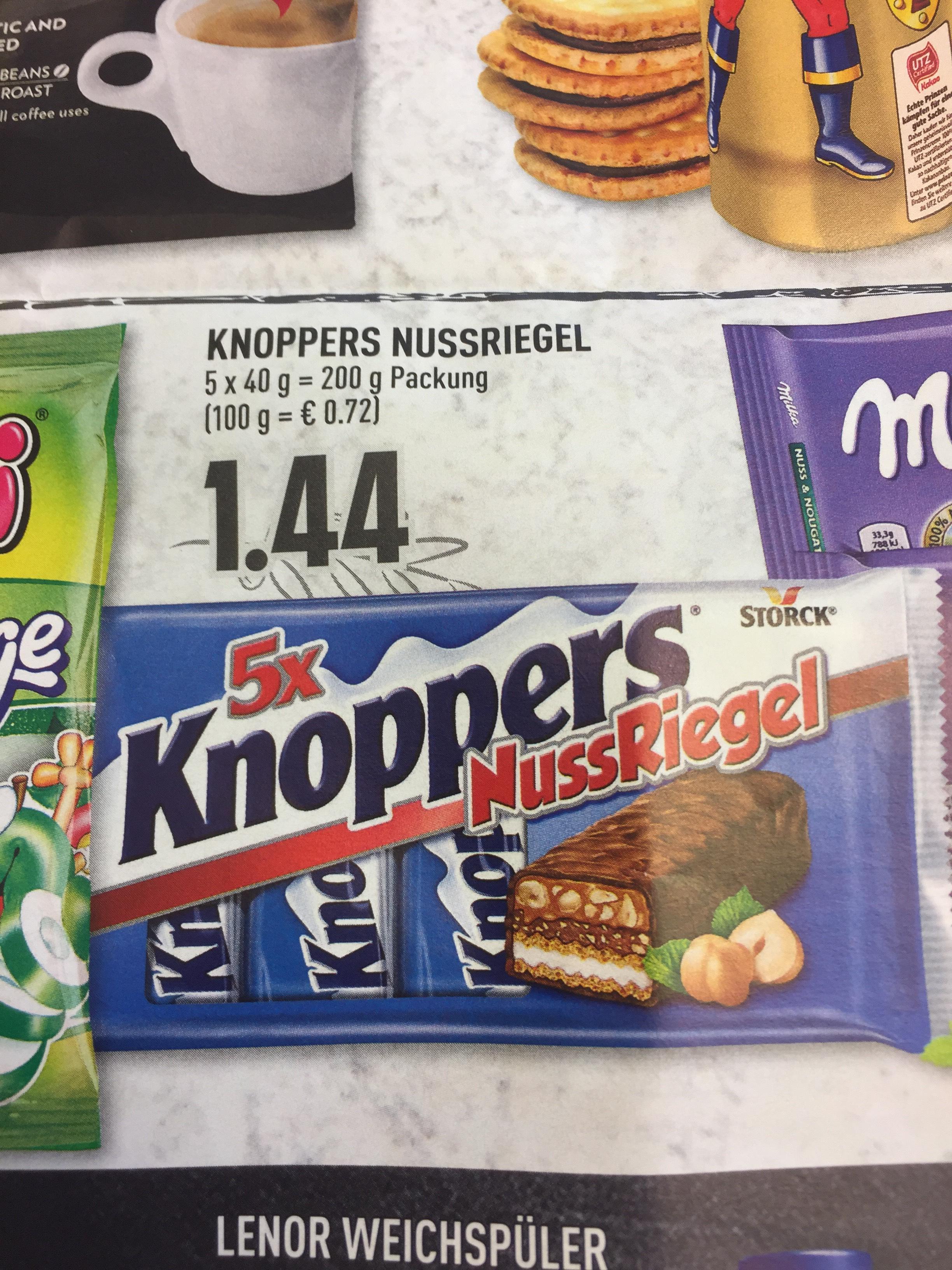 EDEKA Rhein-Ruhr, Knoppers Nussriegel 5er zu 1,44€