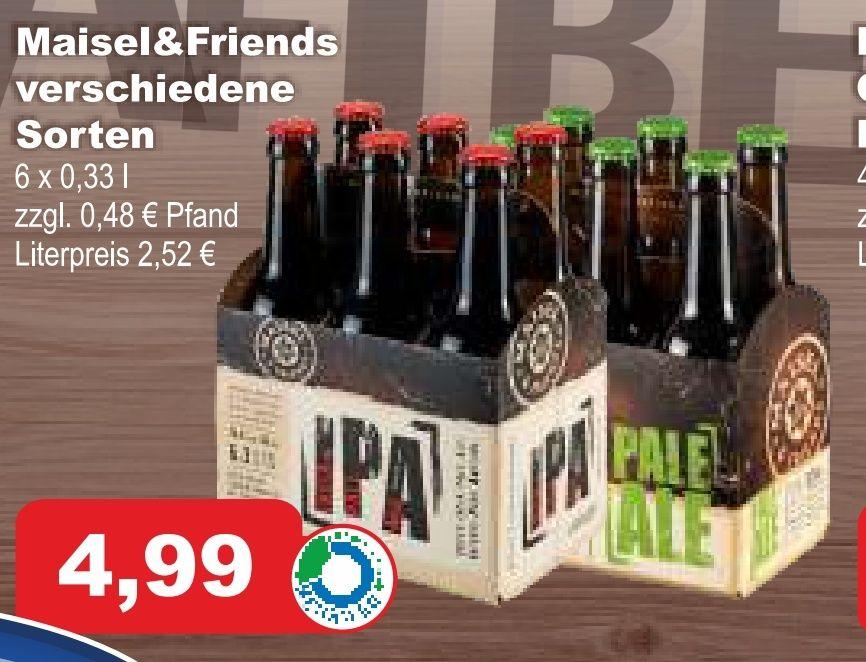 Maisel & Friends verschiedene Sorten (Pale Ale, IPA, etc.) 6x0,33L