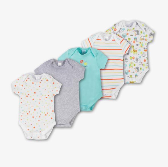 20% Rabatt auf alle Baby-Bodies + 10% Newsletter-Rabatt bei C&A, z.B. 3x5 Bodys für 19,44€ bei Filialieferung