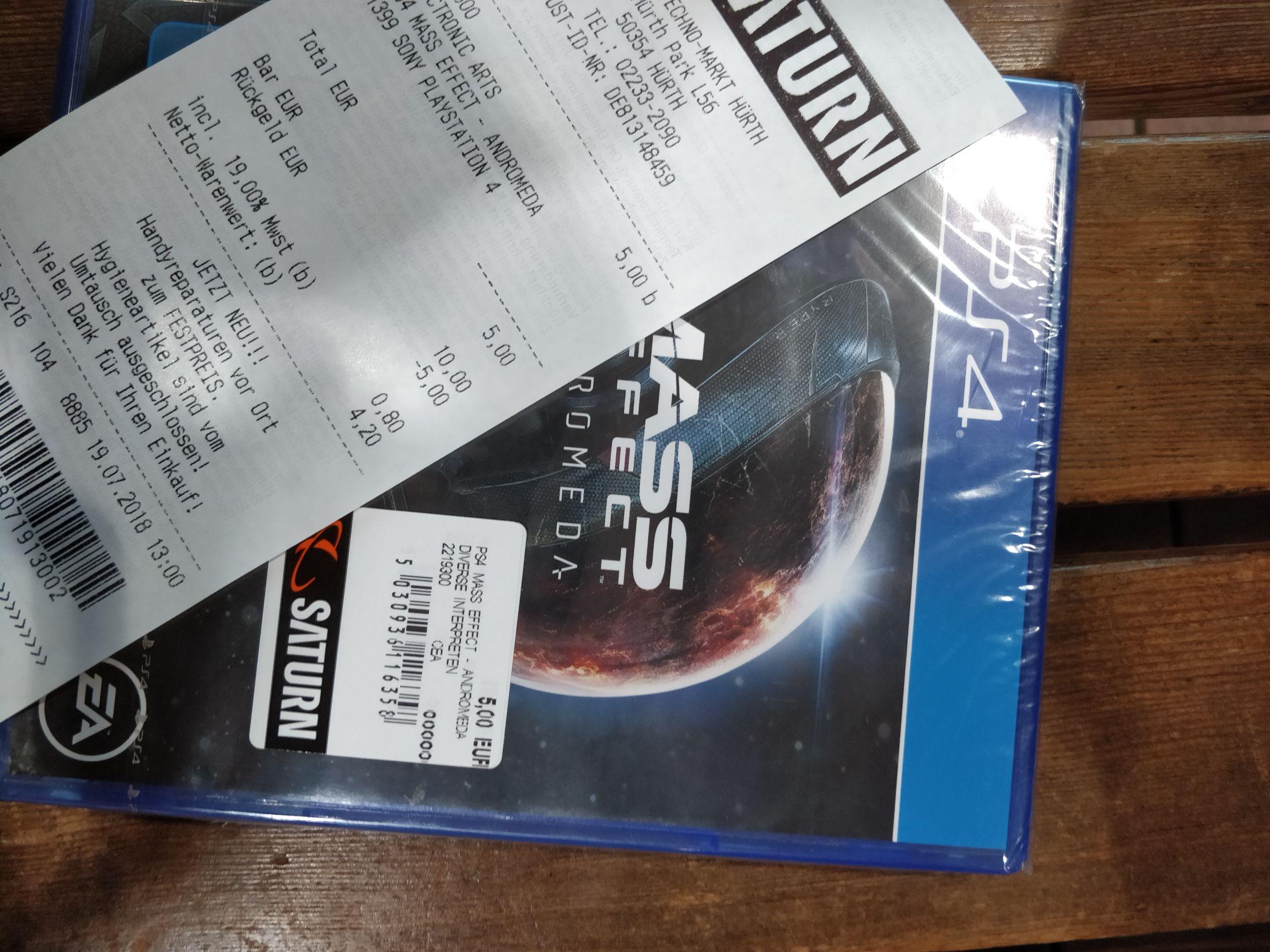 (LOKAL) Mass Effect Andromeda (PS4) für 5 Euro bei Saturn Hürth