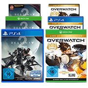 Overwatch GOTY + Destiny 2 (PC/PS4/Xbox One) für 22€ inkl. Versand (GameStop)