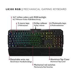 Lioncast LK300 RGB mechanische Gaming Tastatur Kailh Red