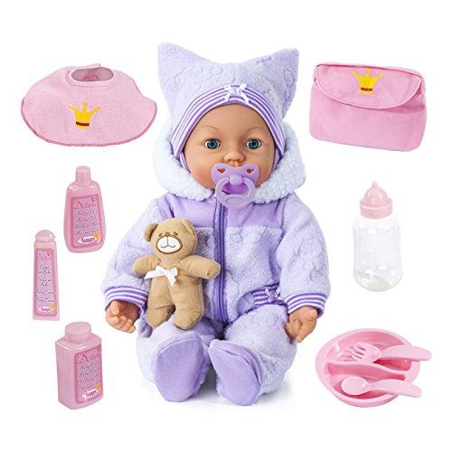 (AMAZON APP-10 € Rabatt nur für Erstanmeldung) Bayer Design - Piccolina Magic Eyes Puppe, 46 cm