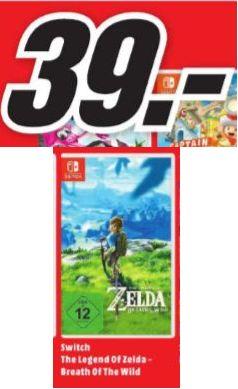 [Regional Mediamarkt Jena] The Legend of Zelda: Breath of the Wild, Nintendo Switch für 39,-€