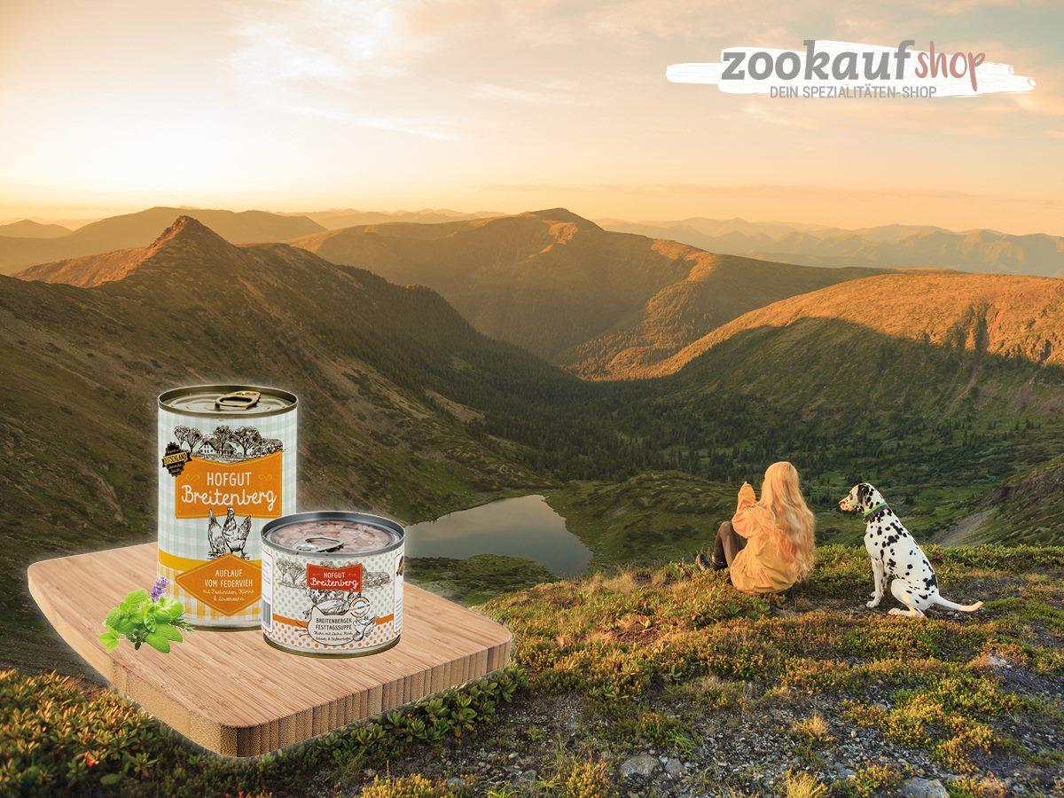 20 % Probier-Rabatt auf Hofgut Breitenberg Hundefutter und Katzenfutter