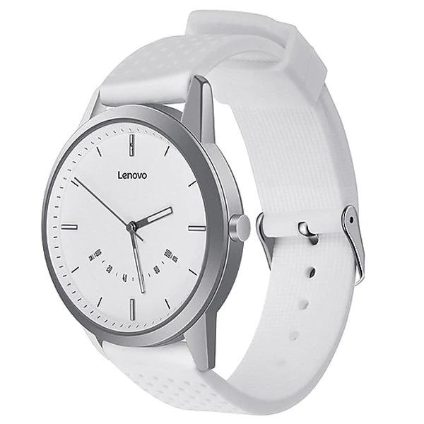Hybrid-Smartwatch Lenovo Watch 9 in weiß (Bluetooth 5.0, Schrittzähler, Schlaftracker, Benachrichtigungen, IP68, bis zu 240 Tage Standby)