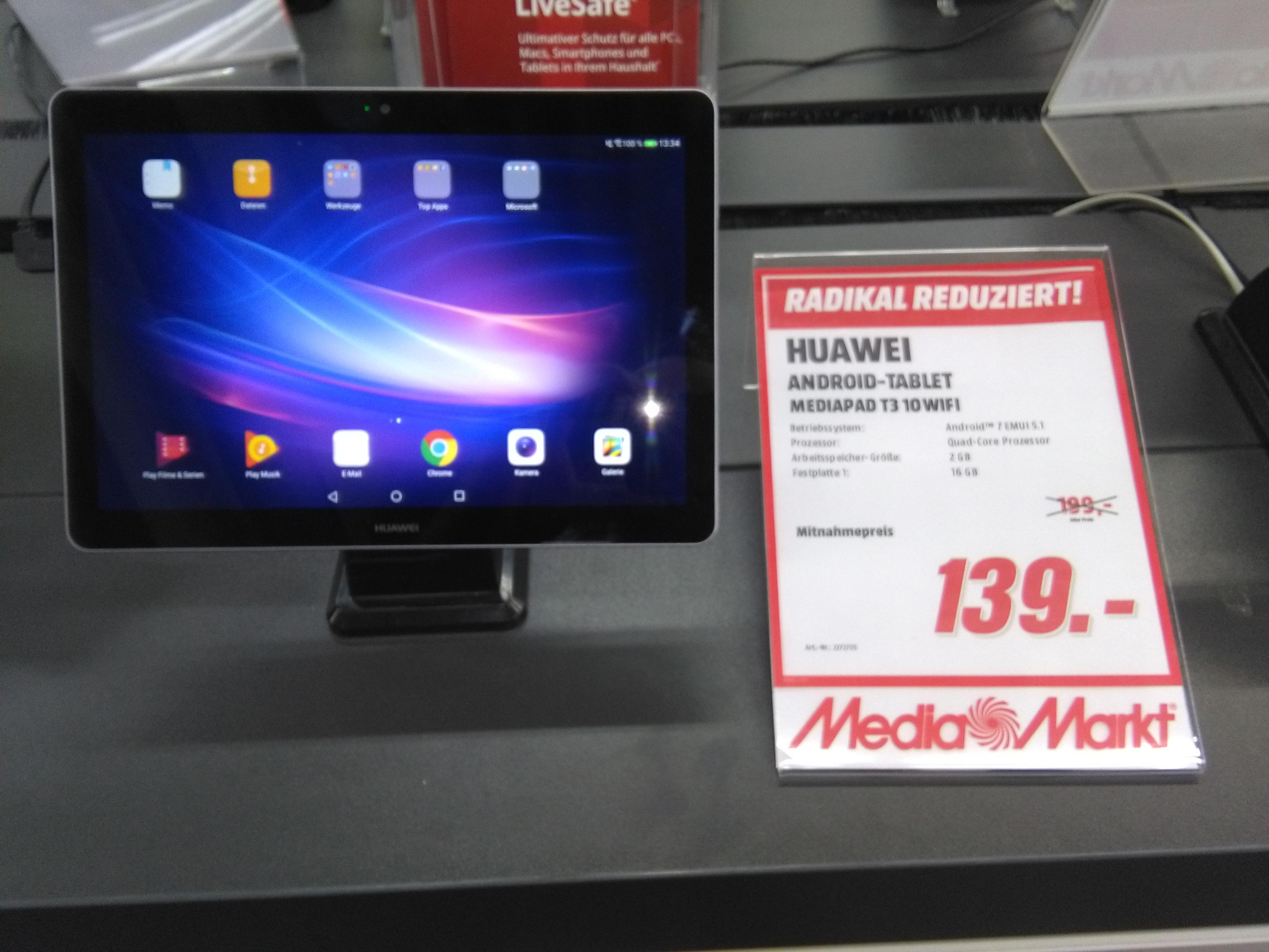 Huawai MediaPad T3 10 Wifi bei Media Markt Bochum Hofstede