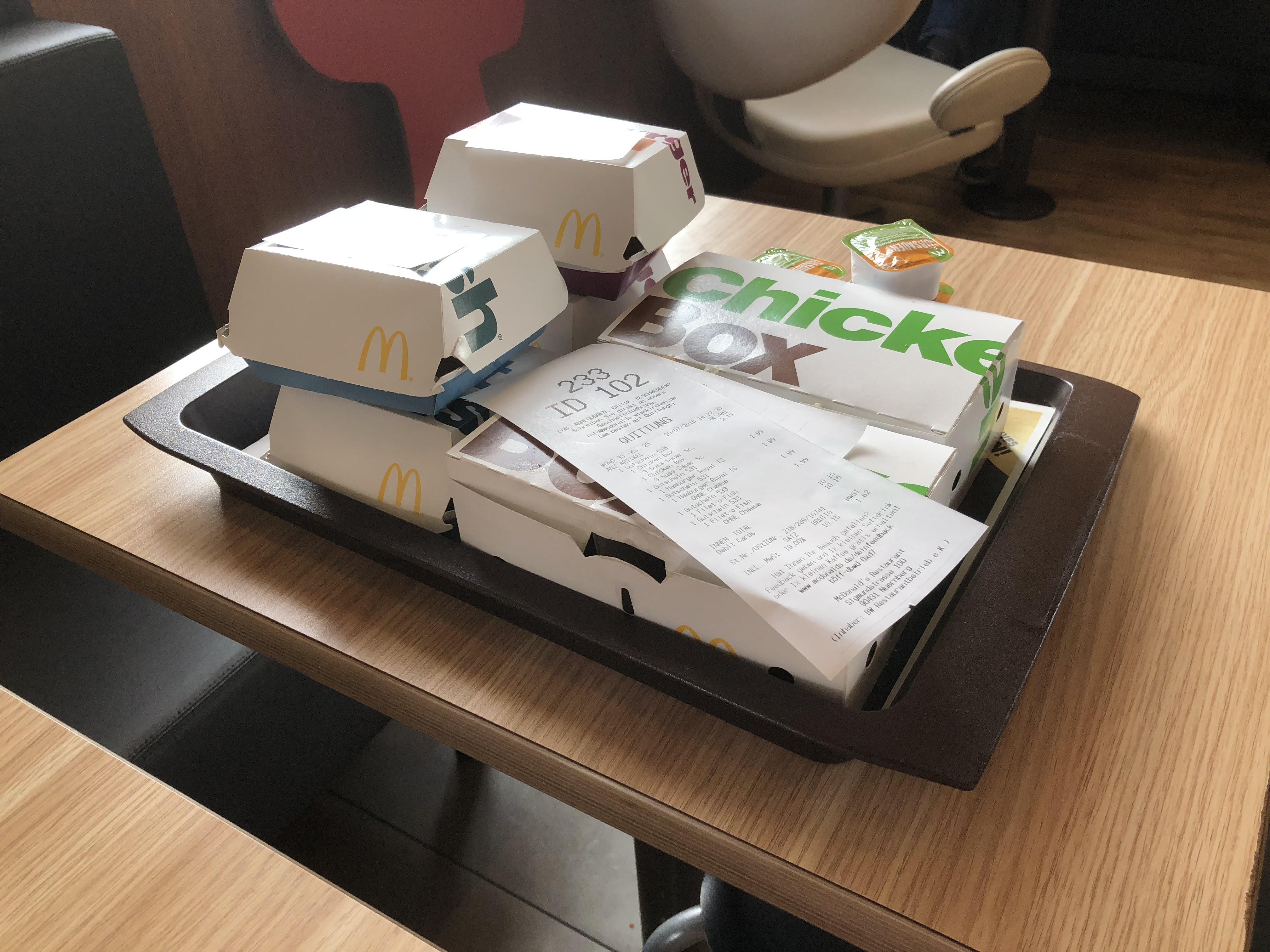 McDonalds 2x Chickenbox für 2,19€ am Kiosk mit 515 + weitere gute Codes
