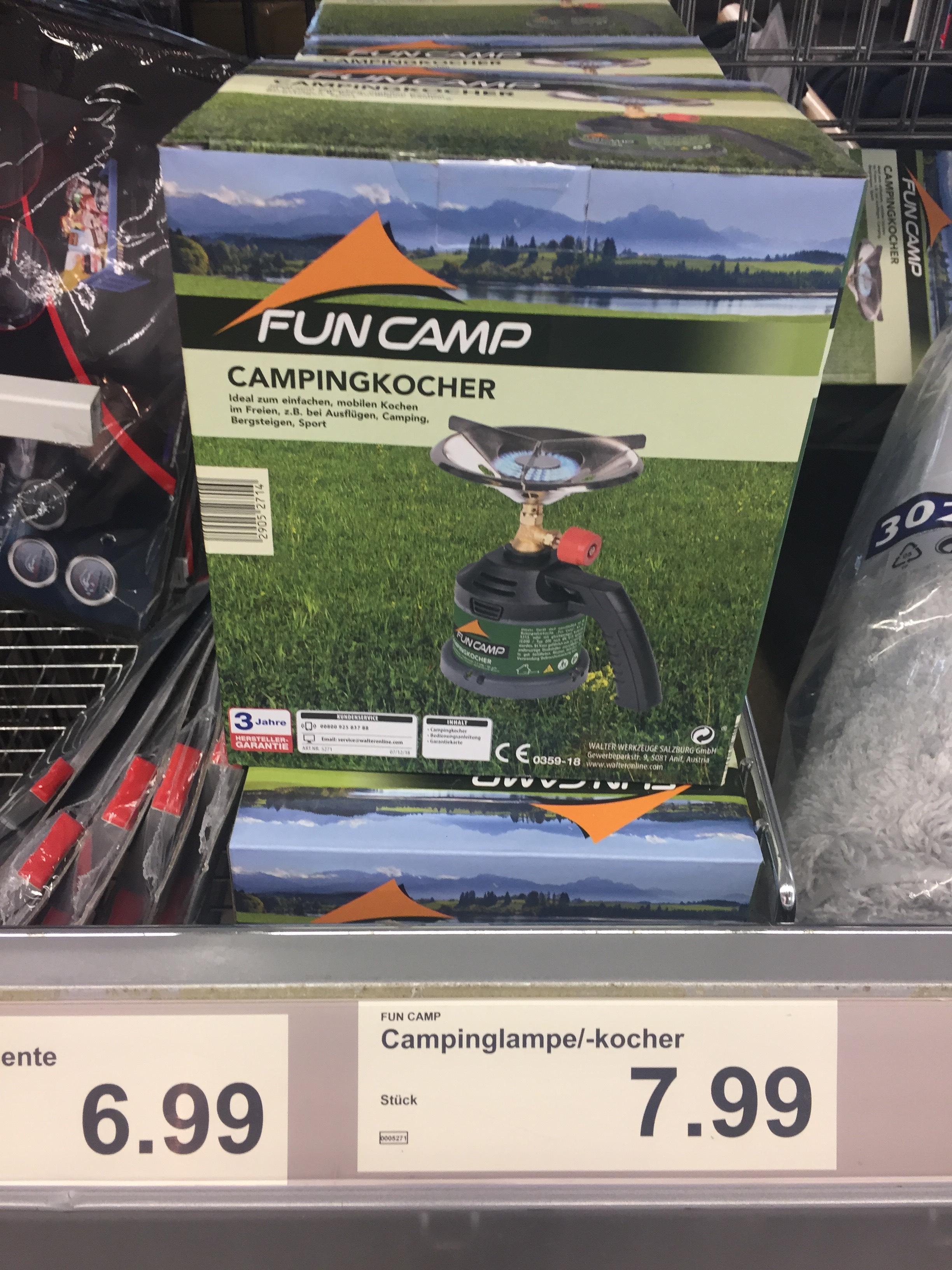 Camping Gaskocher / Lampe beim Aldi Berlin vielleicht Lokal