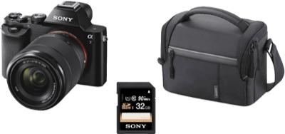 Foto Weekend bei Saturn - z.B. DSLM Sony Alpha 7 Kit 28-70 mm + Tasche + 32GB SD-Karte für 749€, Panasonic Lumix DMC-TZ58 für 139€, Instax Mini 25 Magic-Set für 66€, Steiner-Optik Champ 10x26 für 55€