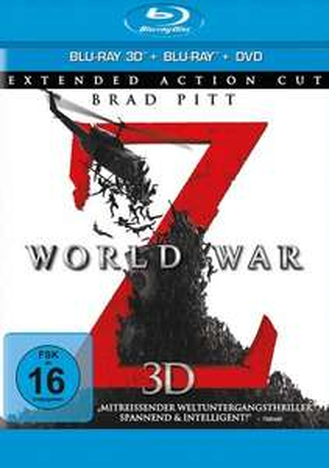 [Mediadealer] World War Z - Blu-ray 3D + 2D + DVD / Extended Action Cut (Blu-ray)