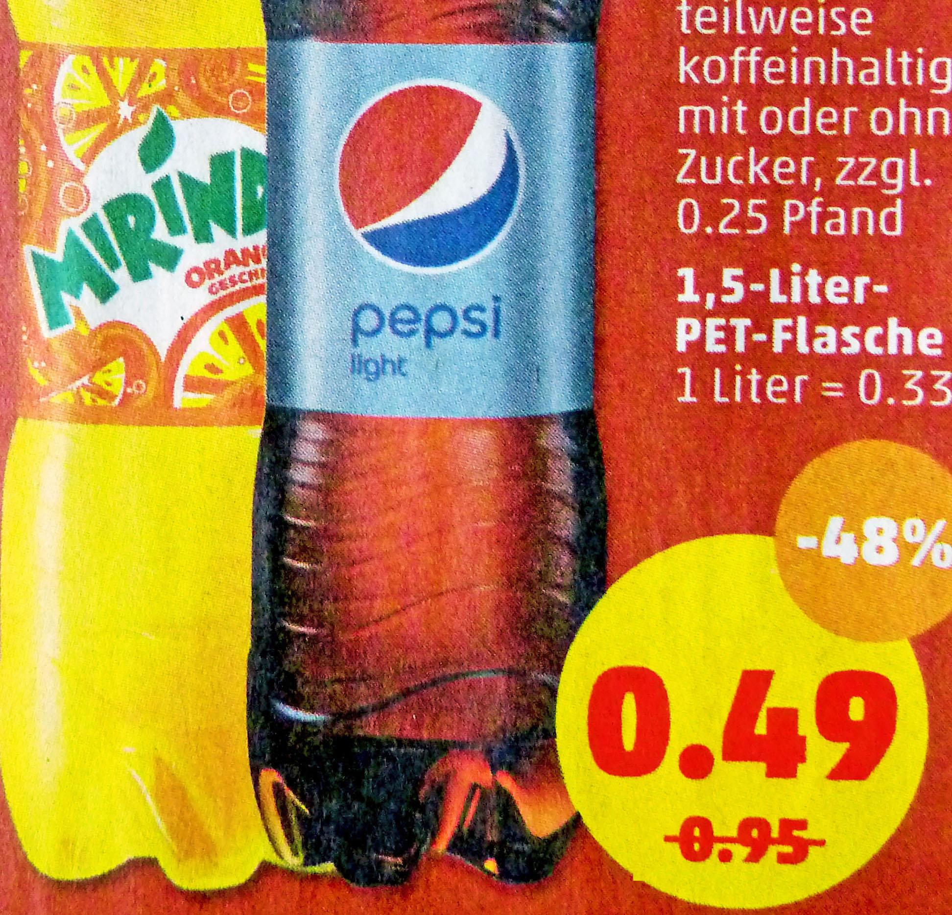 Pepsi / Mirinda / 7Up /Schwip Schwap je 1,5l Flasche für 0,49€ (Penny ab 23.7.)