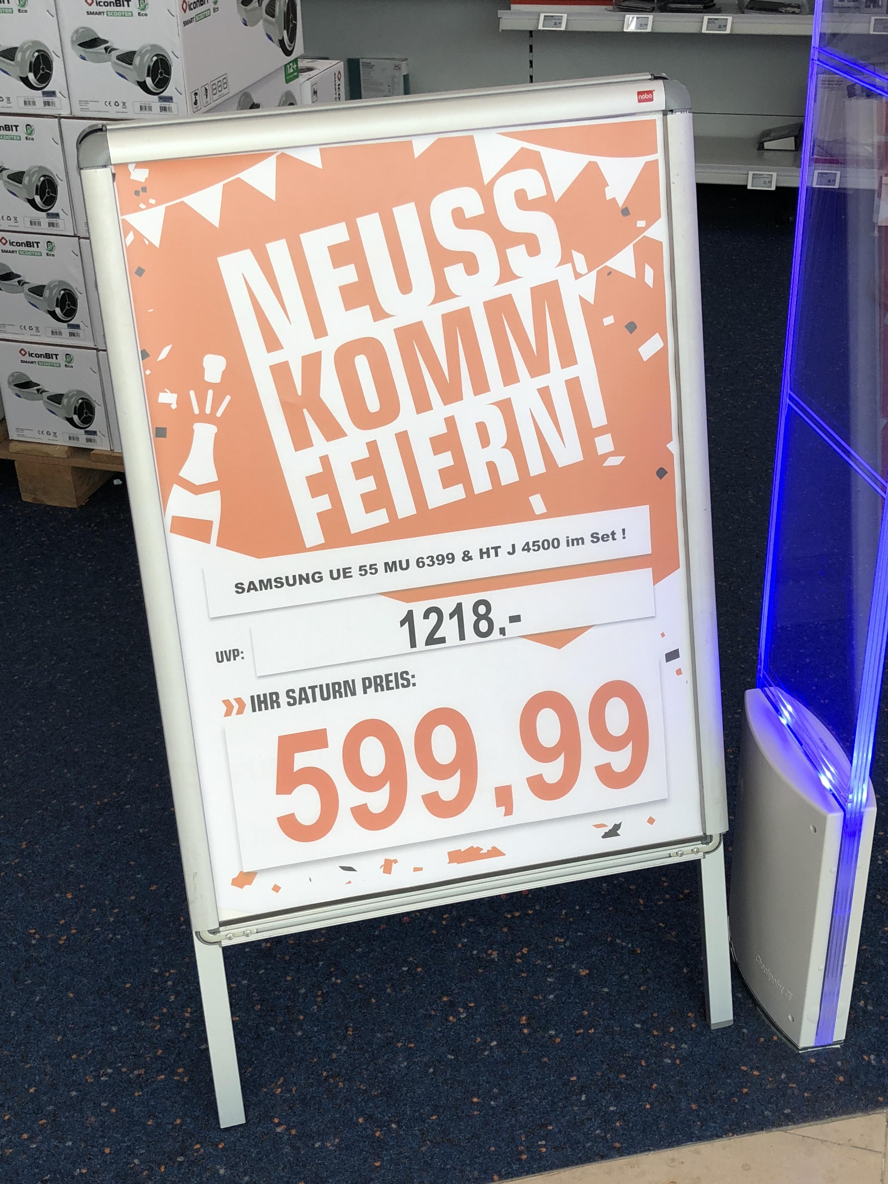 Samsung UE55M6399 + SAMSUNG HT-J 4500 für 599,99€ / Saturn Neuss / LOKAL
