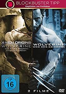 X-Men Origins - Wolverine: Wie alles begann + The Wolverine: Weg des Kriegers (DVD) für 4,99€ [Saturn]