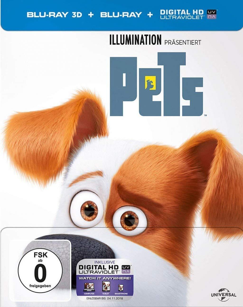 Pets Limited Steelbook Edition (3D Blu-ray + Blu-ray + UV Copy)  für 5,99€ versandkostenfrei (Saturn)