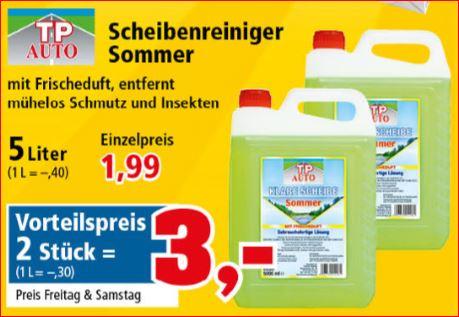 10 Liter Scheibenreiniger Sommer für nur 3,00 Euro [Thomas Philipps]