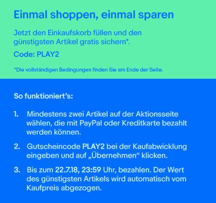 Ebay - Einmal shoppen, einmal sparen