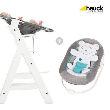 Hauck Hochstuhl mit Babyaufsatz, der auch als Babywippe einsatzbar ist