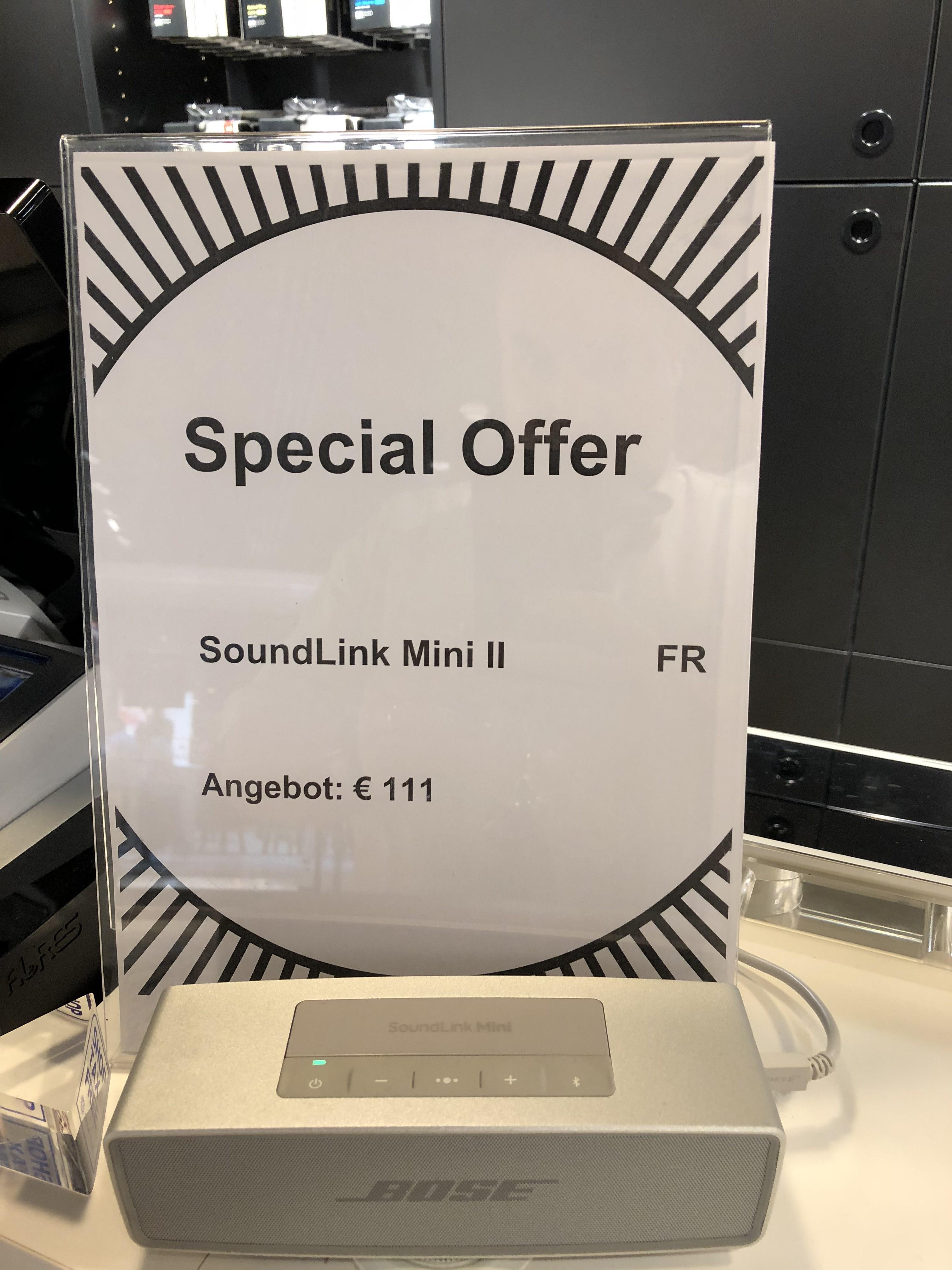Lokal Hamburg Bose Store: Bose SoundLink Mini Bluetooth Lautsprecher II Carbon oder Silber