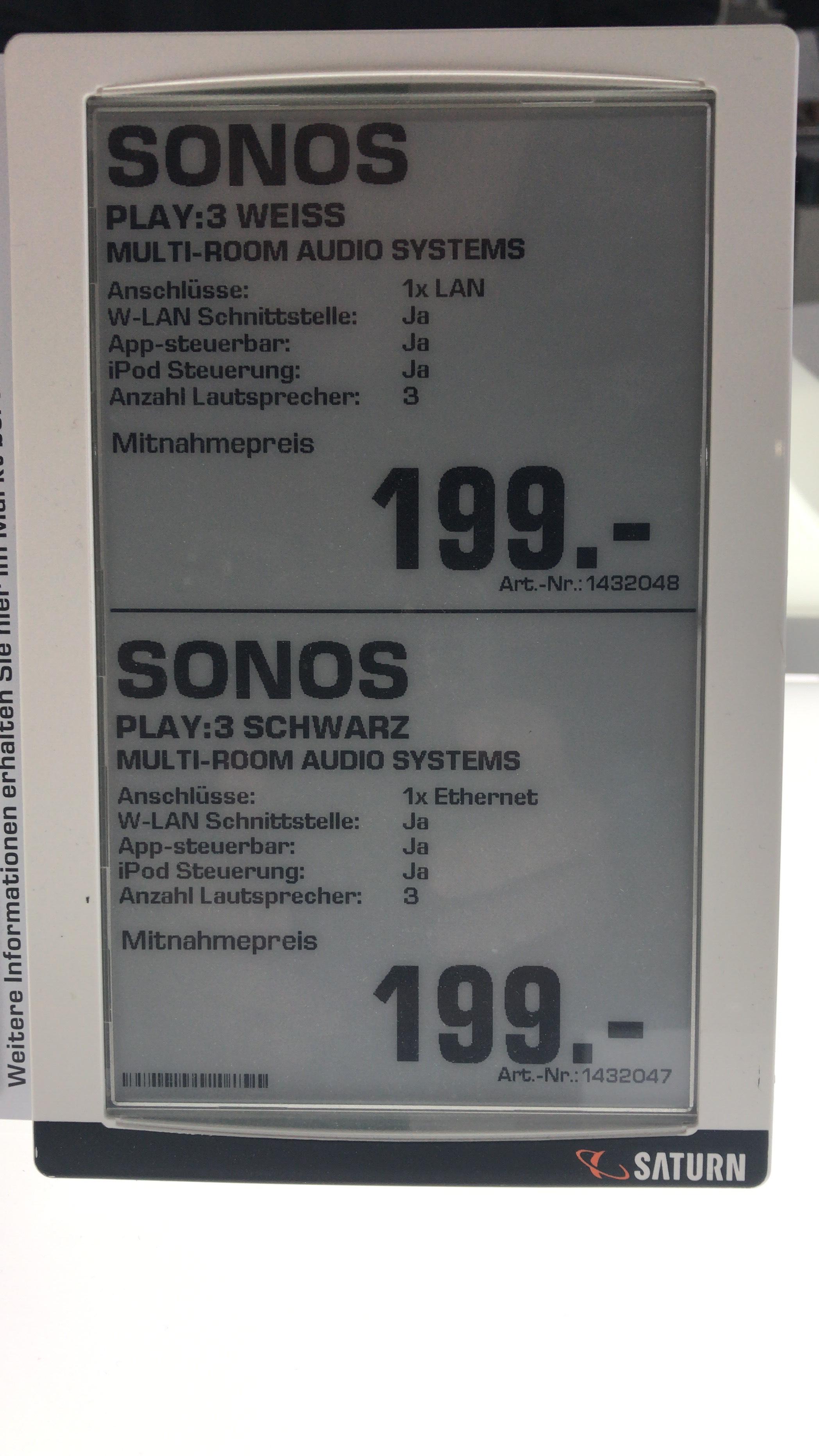 [Lokal: München]SONOS PLAY:3