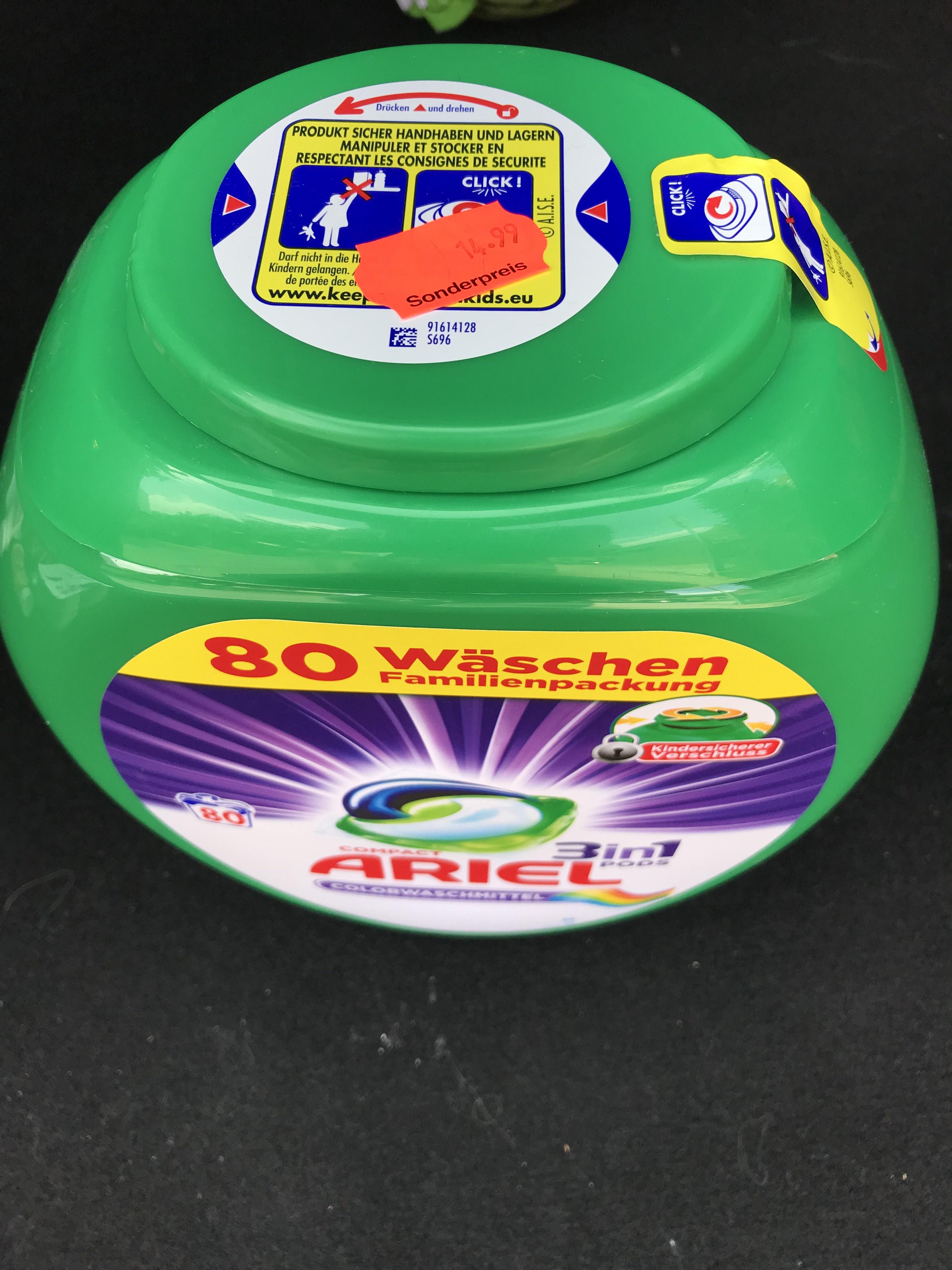 Lokal Rewe Merzenich - Ariel Pods Color Familienpackung 80 Waschladungen
