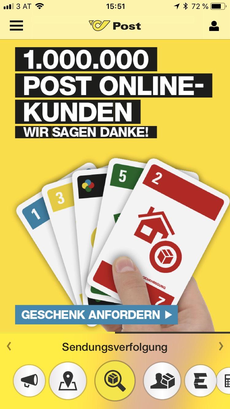 Gratis Kartenspiel für Online Postkunden Österreich