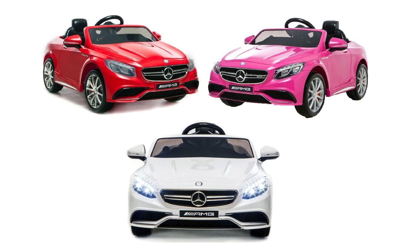 [Groupon] Mercedes S63 AMG Kinder Elektroauto (weiß, rot u. pink)
