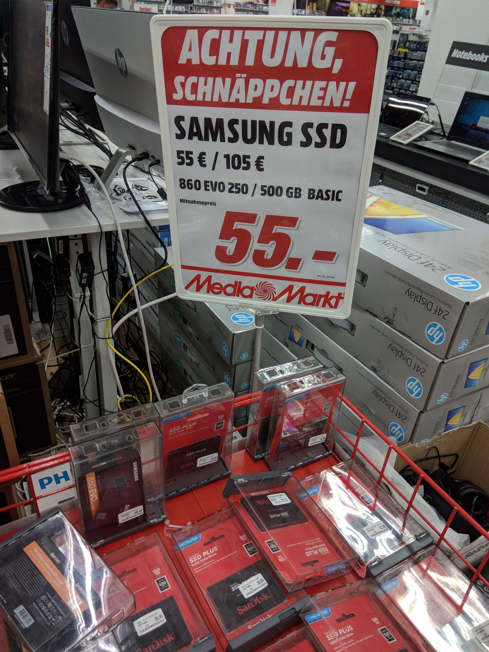 Samsung SSD 860 Evo 250GB (lokal Wiesbaden)