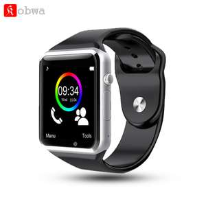 Kobwa Smartwatch A1 WristWatch Bluetooth Smart Watch Sport Bracelet Pedometer with SIM Camera Smartwatch For Android Smartphone  T15
