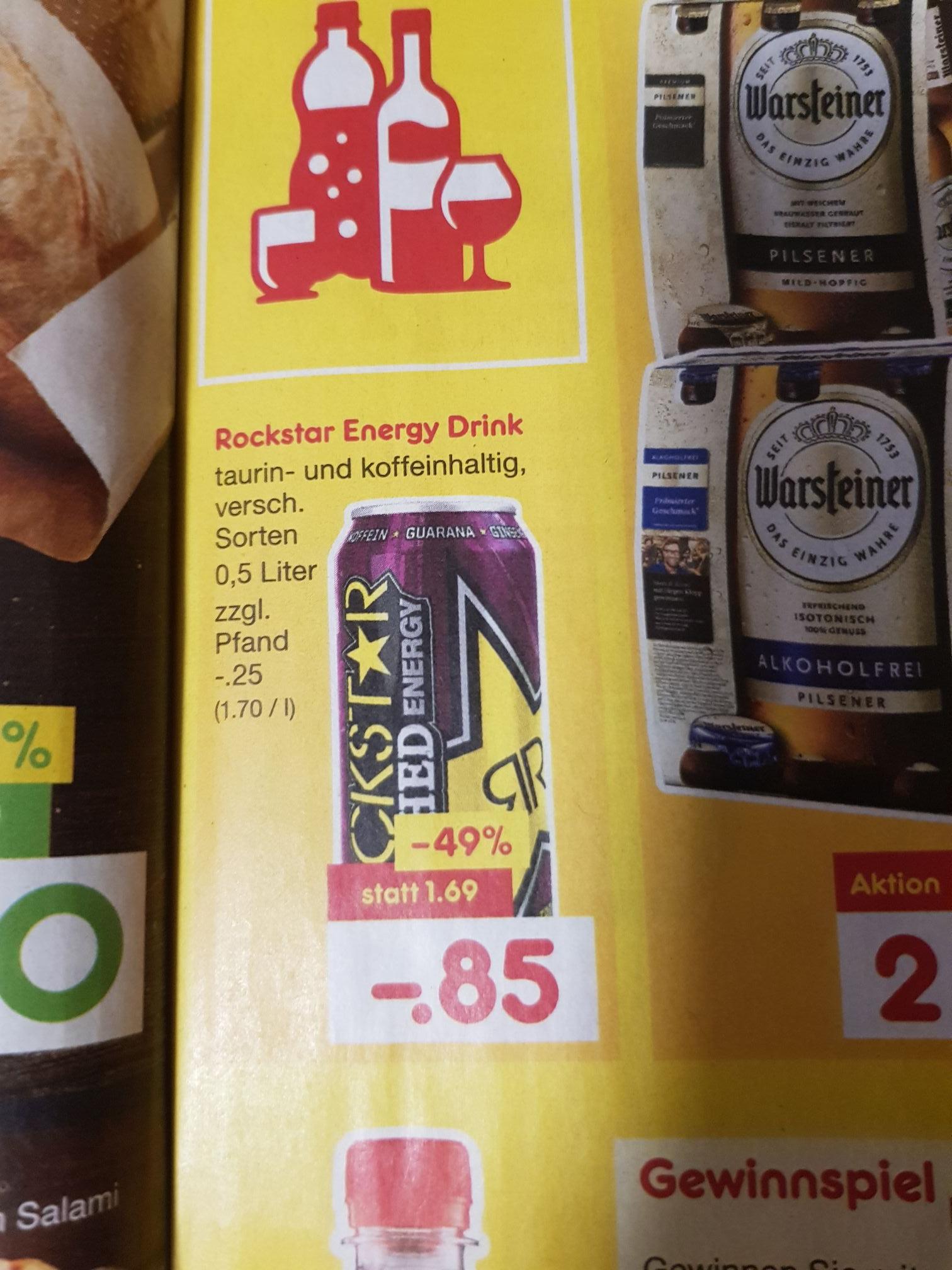[Netto Bundesweit] Rockstar Energy für 0,85€ statt 1,69€