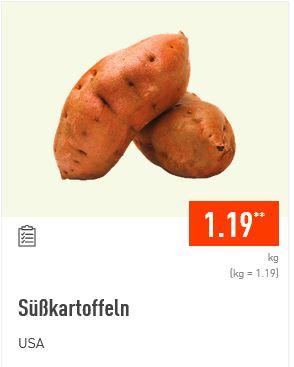 Aldi Nord: 1kg Süßkartoffeln für 1,19 Euro.