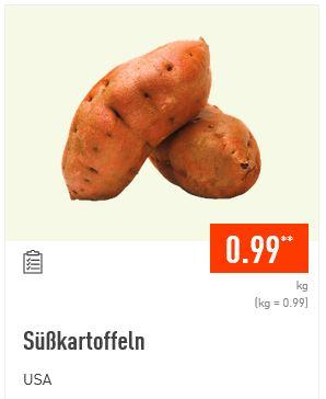 Aldi Nord: 1kg Süßkartoffeln für 0,99 Euro.