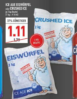 [Marktkauf Rhein-Ruhr] Eiswürfel / Crushed Ice 2kg