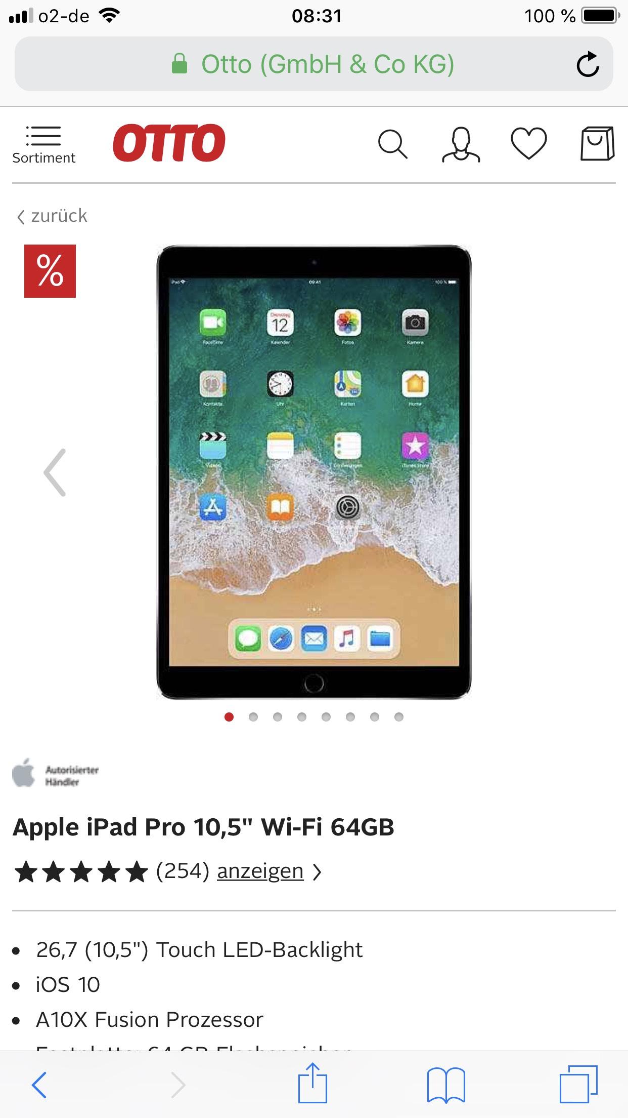 """Apple iPad Pro 10,5"""" Wi-Fi 64GB"""