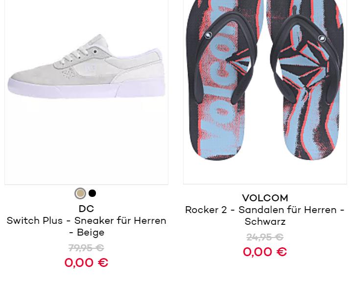 [Preisfehler] im kompletten Shop - Hunderte Schuhe verfügbar